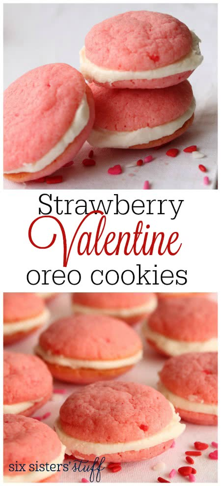 Strawberry Valentine Oreo Cookies 4
