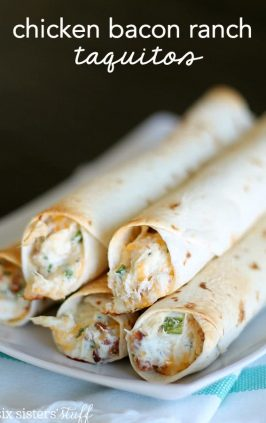 Slow Cooker Cheesy Chicken Taquitos Six Sisters Stuff