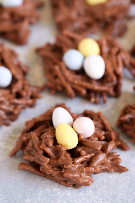 No-Bake Chocolate Bird Egg Nest Cookies Recipe {Fun kid recipe!}