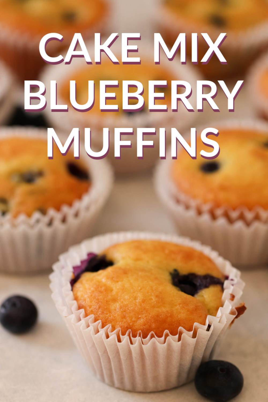 Cake Mix Blueberry Muffins