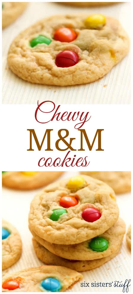 Chewy M&M Cookies 3