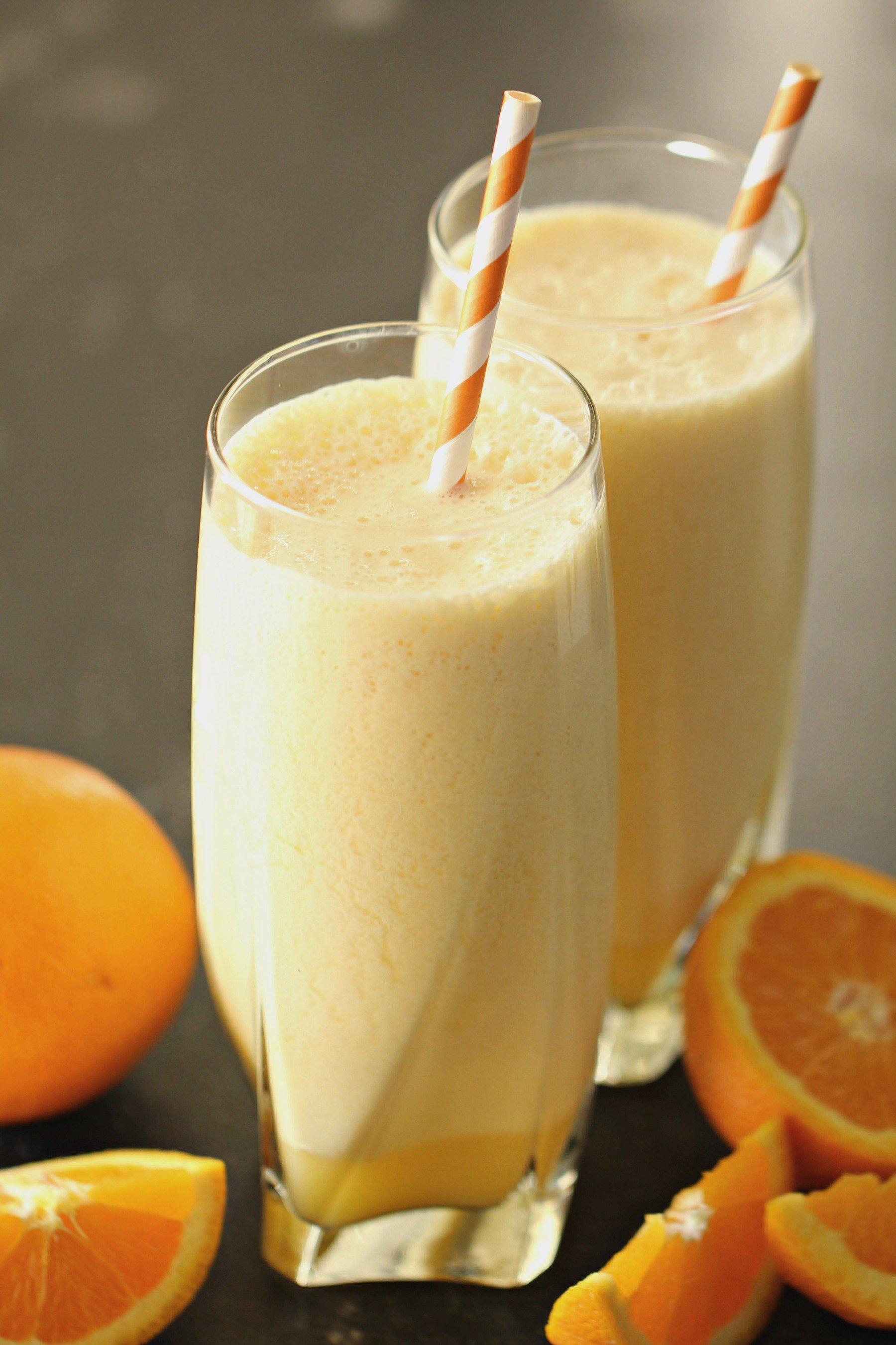 Healthier Orange Julius Copycat with Banana