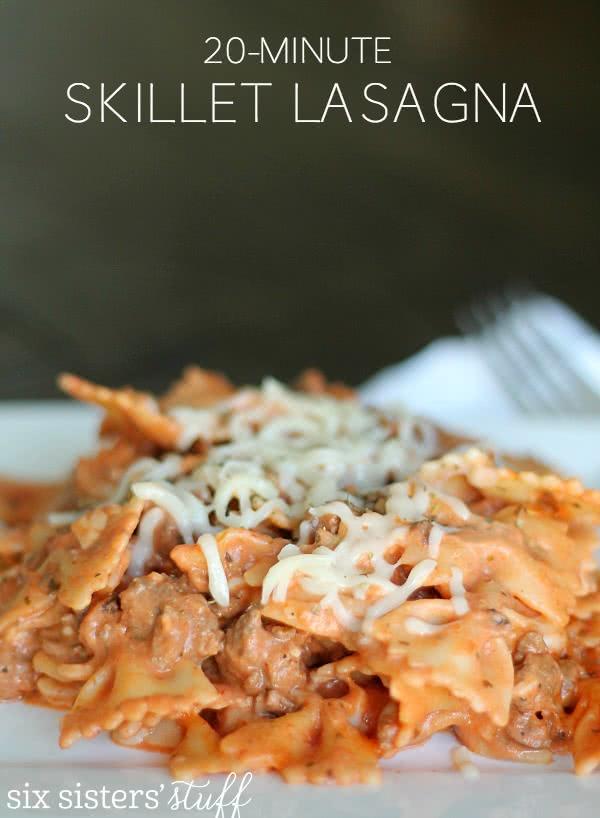 20 Minute Skillet Lasagna Recipe