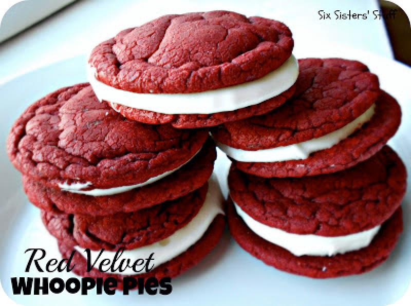 Red Velvet Whoopie Pie Sandwich Cookies Recipe