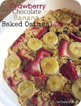 Strawberry Chocolate Banana Baked Oatmeal Recipe