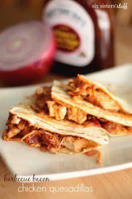 Barbecue Bacon Chicken Quesadillas