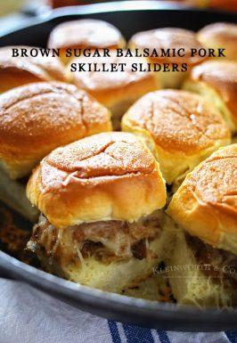 Brown Sugar Balsamic Pork Sliders