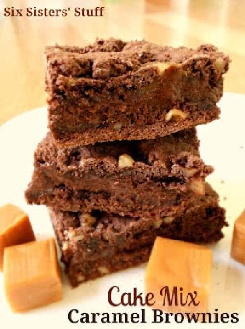 Cake Mix Caramel Brownies Recipe