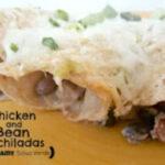 Chicken and Bean Enchiladas