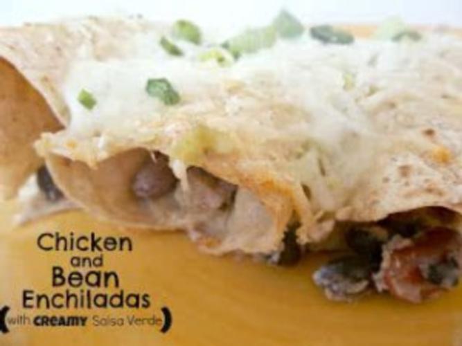 Healthy Meals Monday: Chicken and Bean Enchiladas with Creamy Salsa Verde Recipe