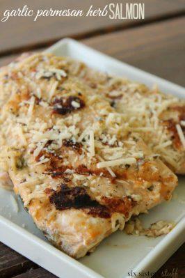 Garlic Parmesan Herb Salmon