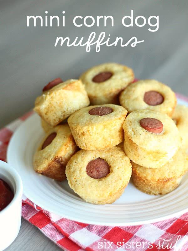 Mini Corn Dog Muffins Recipe | Six Sisters' Stuff