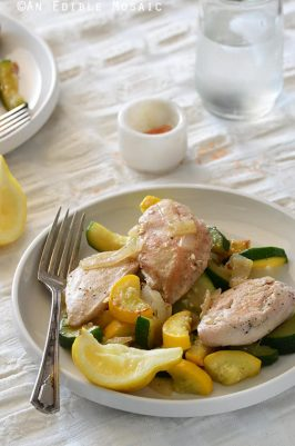 One Skillet Chicken and Summer Squash