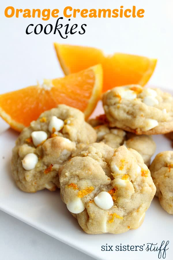 Orange Creamsicle Cookies Recipe/ Six Sisters' Stuff | Six Sisters ...