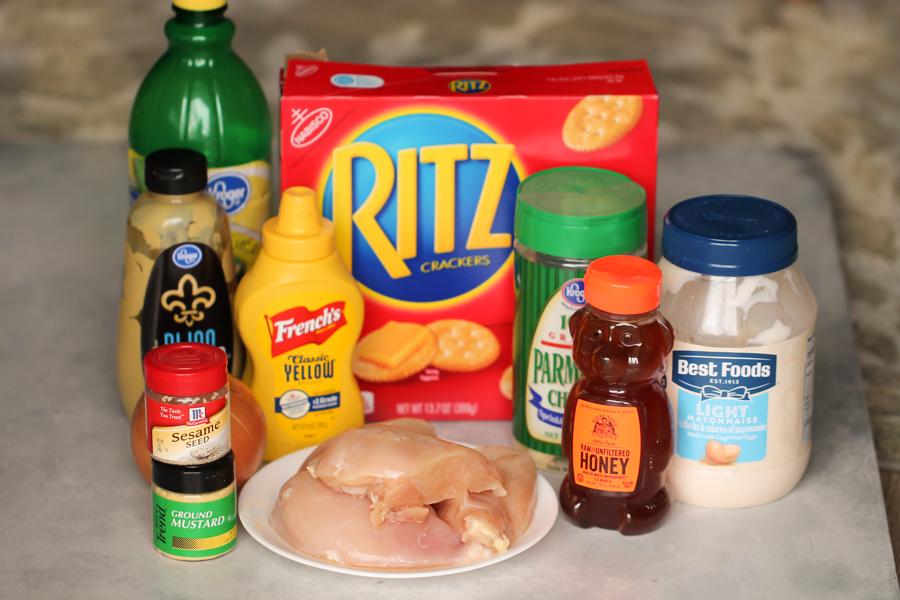 Ingredients for Parmesan Sesame Chicken Strips