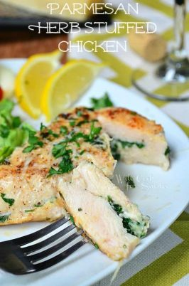 Parmesan and Herb Stuffed Chicken