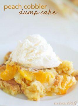 Peach Cobbler Dump Cake Recipe