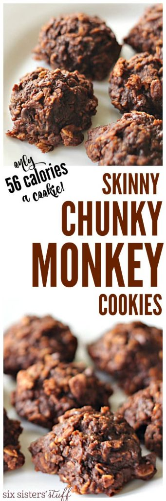 Skinny Chunky Monkey Cookies from SixSistersStuff