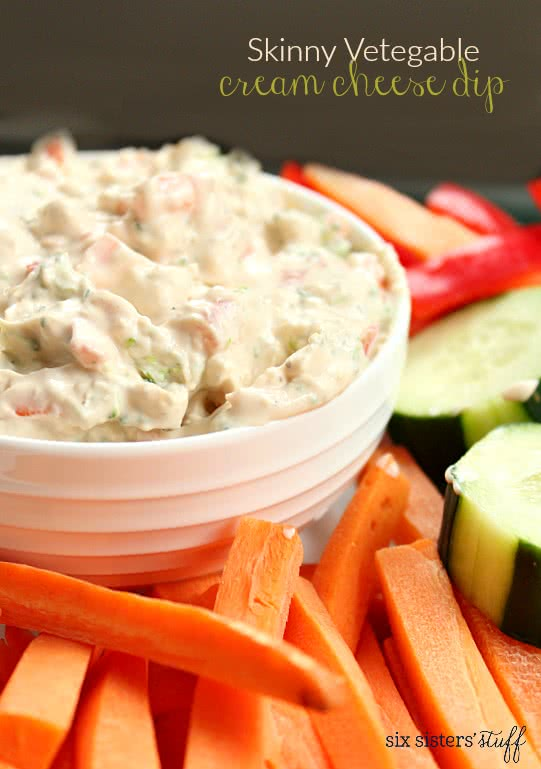 Skinny Vegetable Cream Cheese Dip2