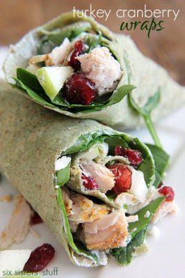 Turkey Cranberry Wraps