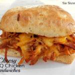 cheesy chicken bbq sandwiches