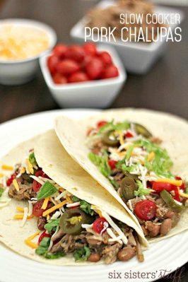 slow cooker Pork Chalupas