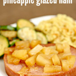 slow cooker pineapple glazed ham