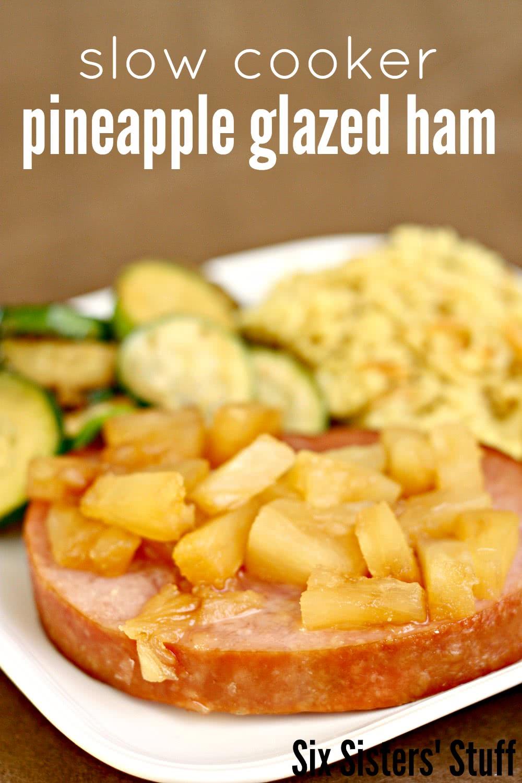 slow cooker pineapple glazed ham