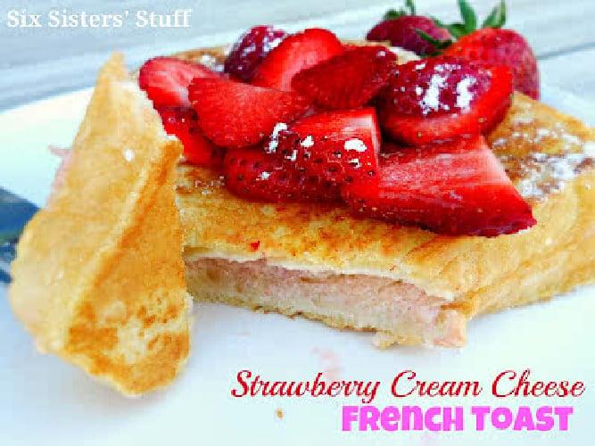 Puffy Strawberry Cream Cheese French Toast Recipe