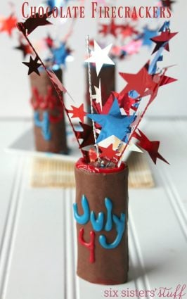 4th of July Chocolate Firecrackers