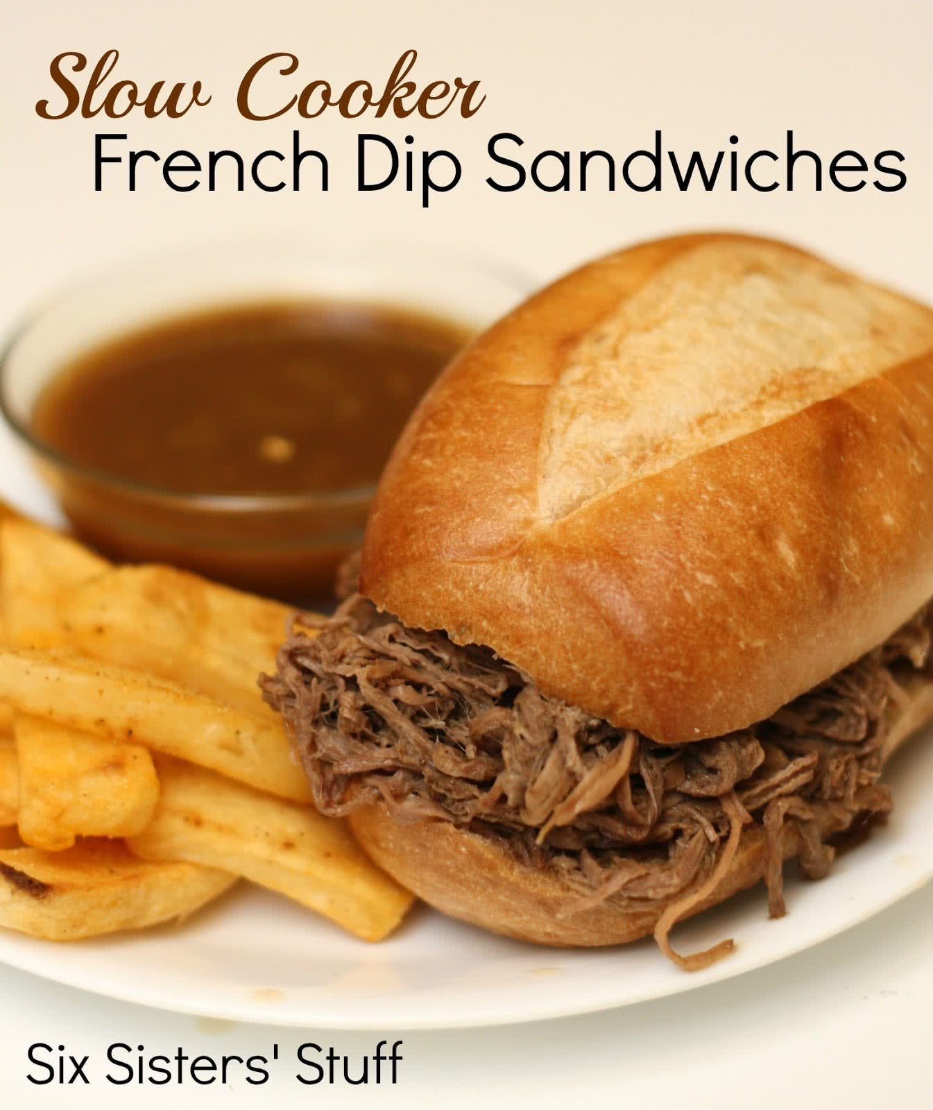 Slow Cooker Easy French Dip Sandwiches