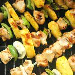 Grilled Island Chicken Kabobs on SixSistersStuff.com