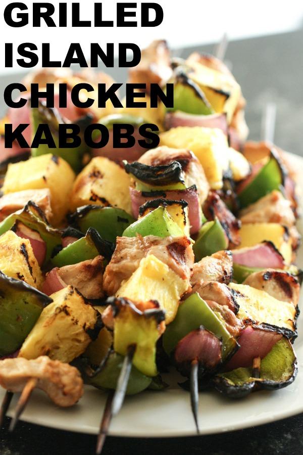 Grilled Island Chicken Kabobs