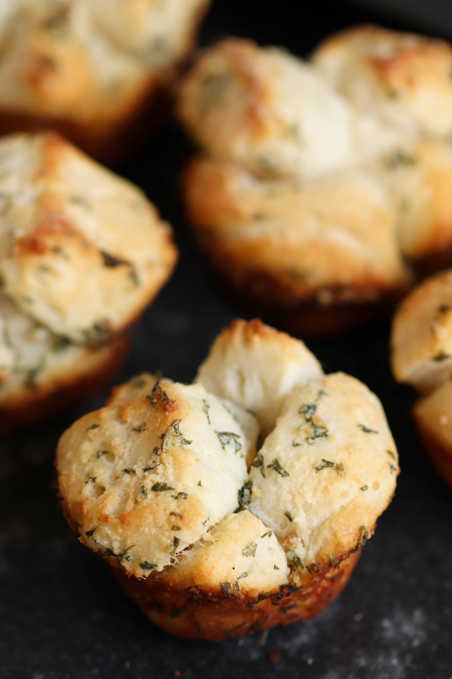 Mini Garlic Monkey Bread Recipe
