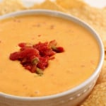 easy 2 ingredient cheesy queso dip