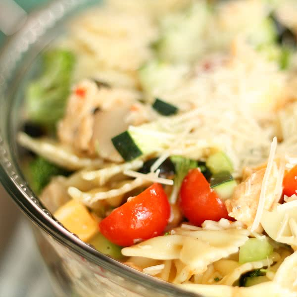 Delicious Grilled Chicken Bow Tie Pasta Salad
