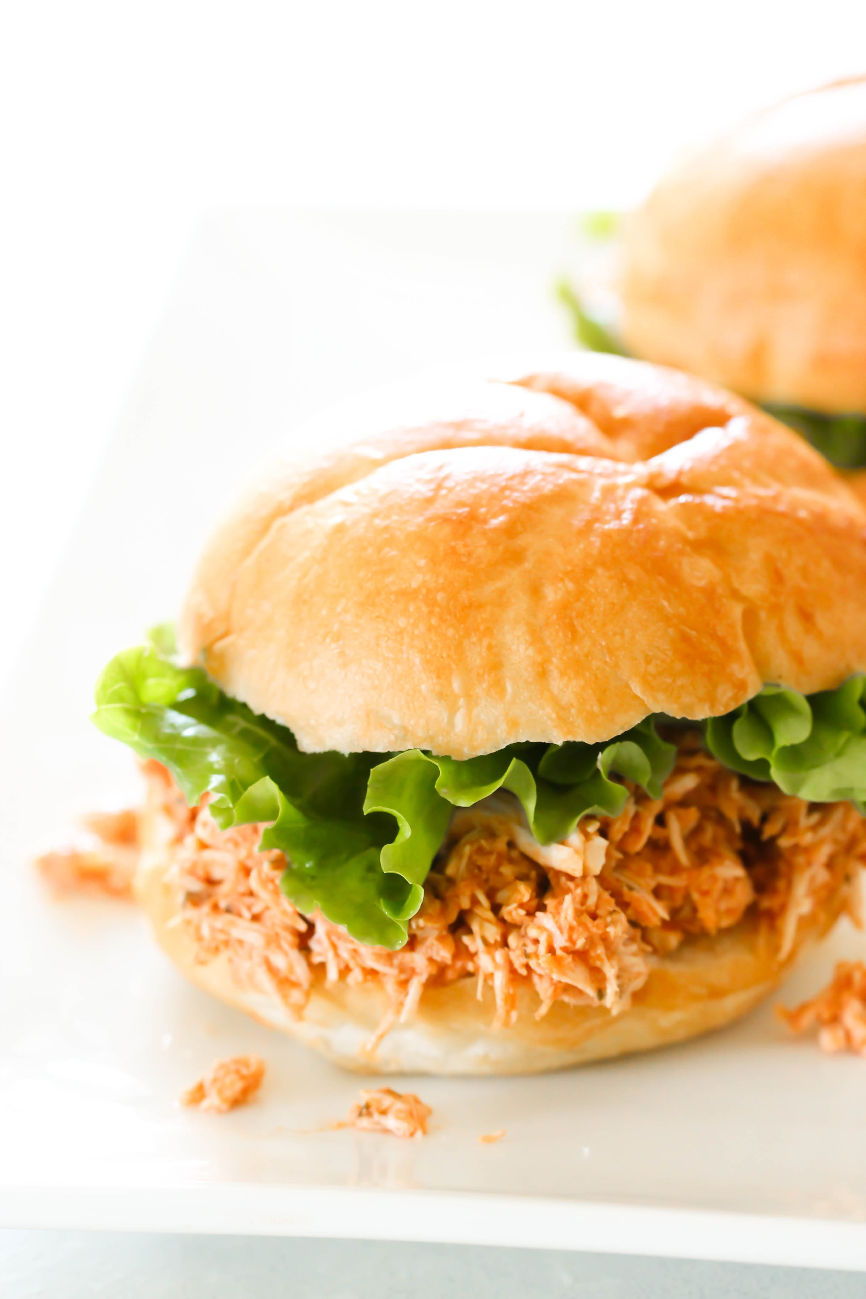 Slow Cooker Buffalo Chicken Sandwiches Recipe