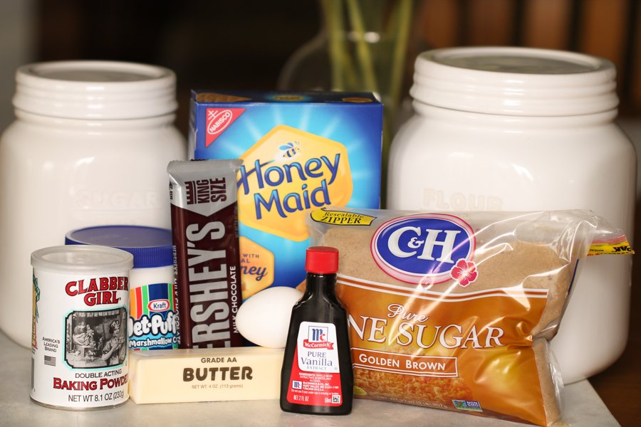 Ingredients for S'mores Bars Recipe
