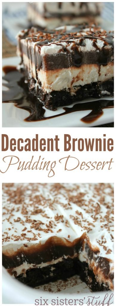 Decadent Brownie Pudding Dessert Six Sisters Stuff