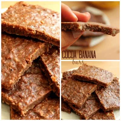 cocoa banana bars square pin