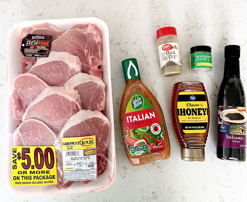 Ingredients needed for Gilled Tuscan Pork Chops