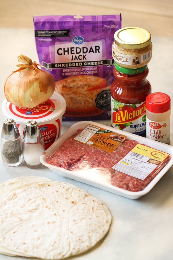 Ingredients for Baked Beef Taquitos Recipe