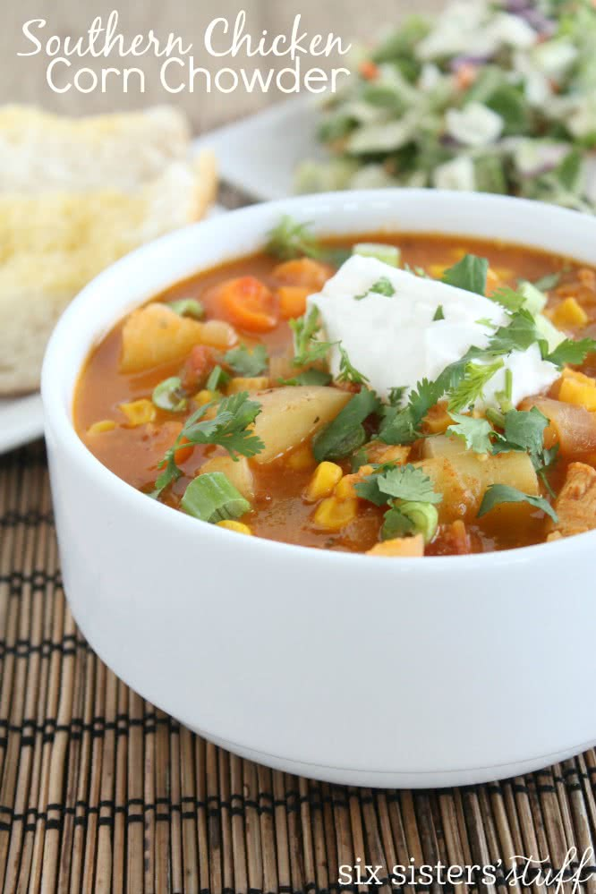 Healthy Meals Monday: Southern Chicken and Corn Chowder