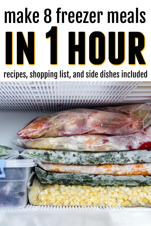 Slow Cooker Freezer Meals Make 8 Meals In 1 Hour