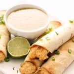 creamy chicken taquitos baked six sisters stuff
