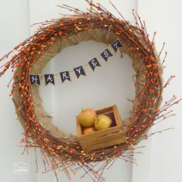 fall bunting wreath