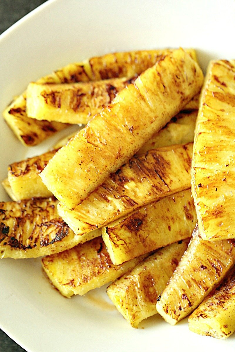 Grilled Caramelized Brown Sugar Pineapple