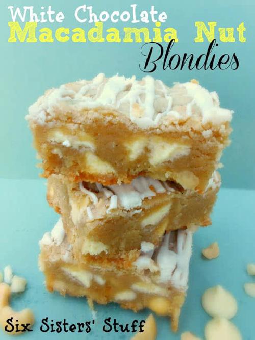 White Chocolate Macadamia Nut Blondies Recipe