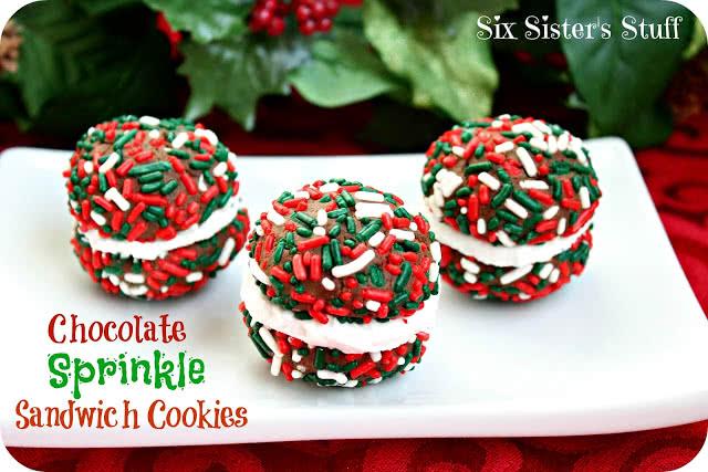 Chocolate Sprinkle Sandwich Cookies Recipe