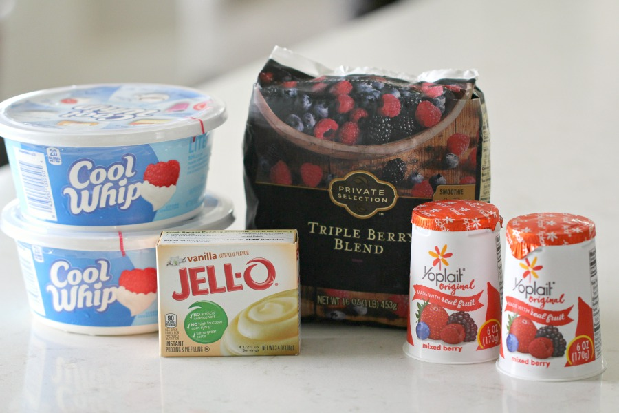 Ingredients for 5 Minute Mixed Berry Parfait Yogurt Salad